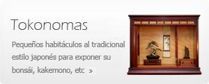 Tokonomas - Muebles expositores de bonsái, planta de acento, kakemono, etc